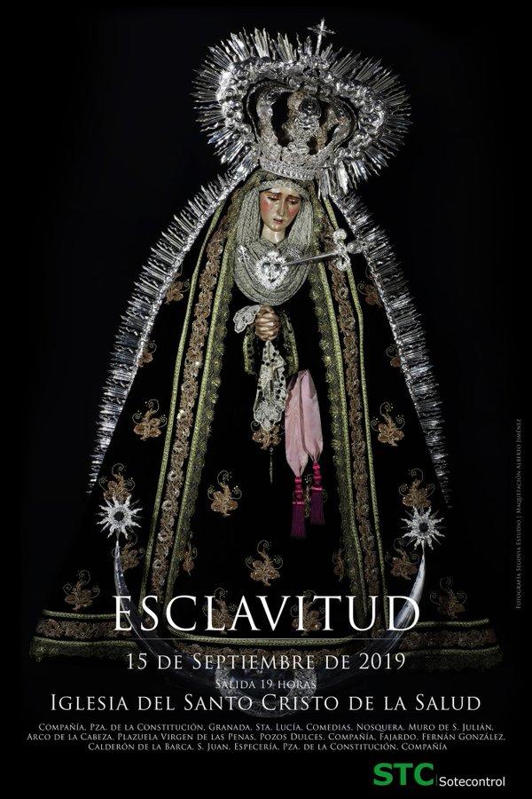 Cartel anunciador de la II Salida Procesional de Nuestra Señora de la Esclavitud Dolorosa de Málaga