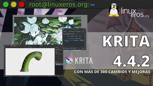 Krita 4.4.2, llega con más de 300 cambios y mejoras