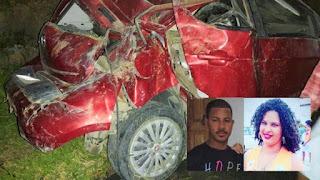 Duas pessoas morrem após carro capota e pega fogo na BA-026