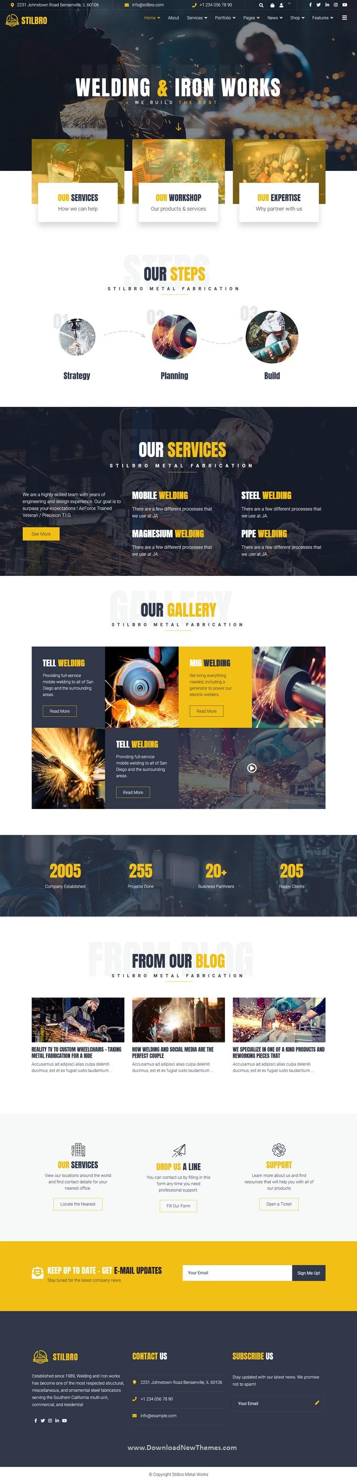 Metal and Steelworks Company Premium Joomla Template