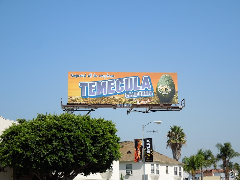 Temecula California Avocados billboard