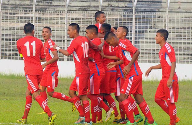 नेपालद्वारा बंगलादेश  १-० गोलले पराजित