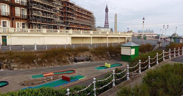 The Princess Parade Crazy Golf course on Blackpool's North Shore