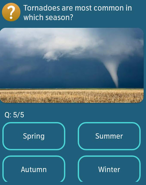 Tornadoes are most common in which season?