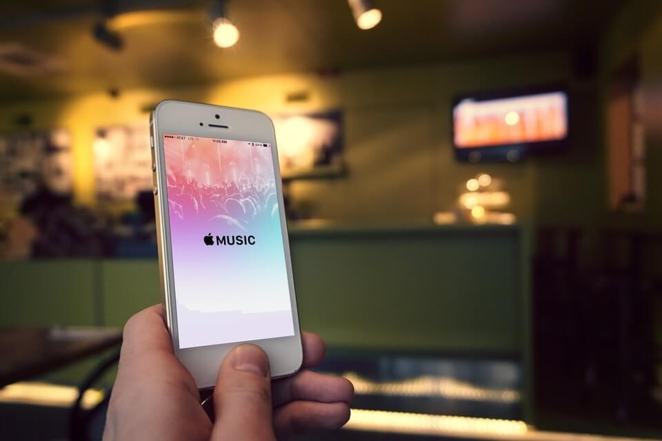 Apple Music Screen On iPhone