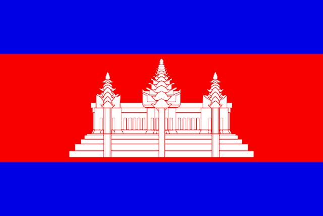 Изображение полотнища государственного флага Камбоджи