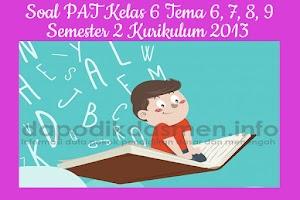 Soal PAT UKK Kelas 6 Semester 2 Tahun 2019 Tema 6, 7, 8, 9