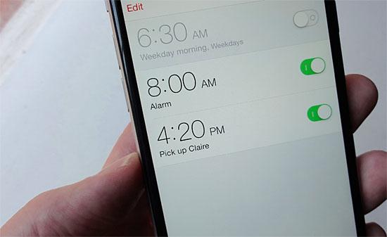 Alarme função soneca