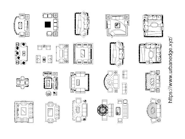Living room furniture cad blocks, 20+ Living room cad blocks free download
