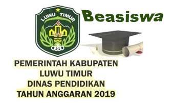 Beasiswa Kabupaten Luwu Timur Untuk D3, D4 dan S1 Tahun 2019