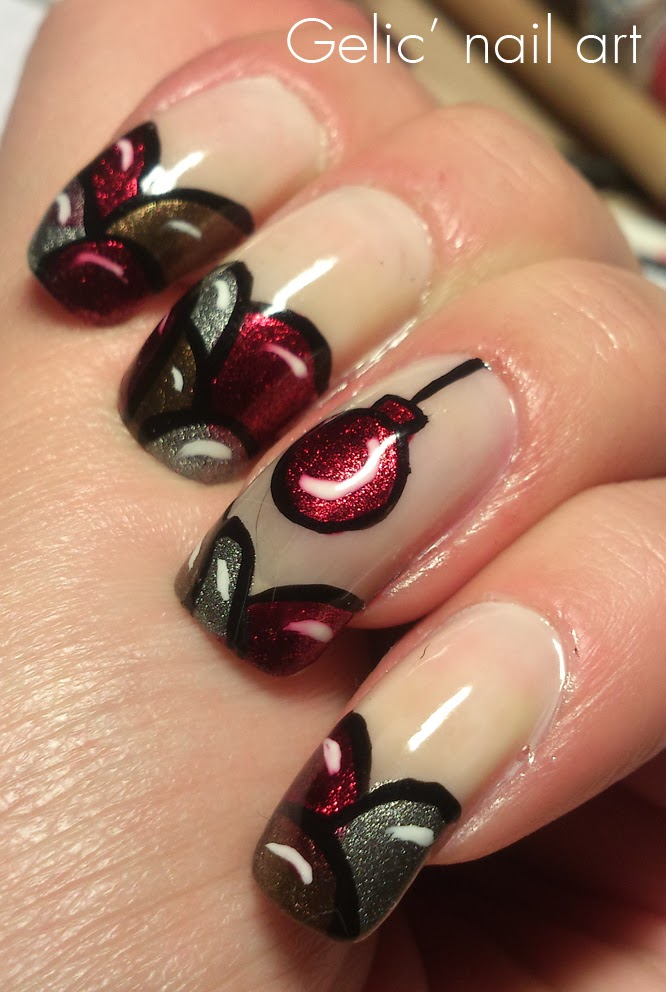 christmas ornament nail art - photo #30