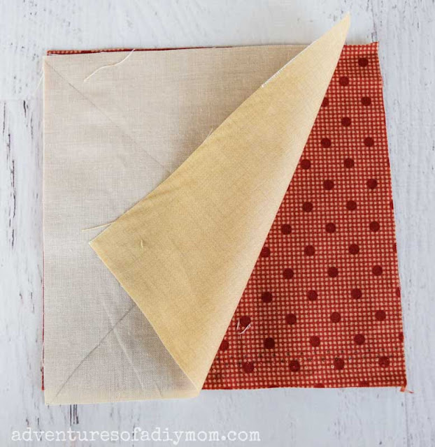 two square pieces of fabric