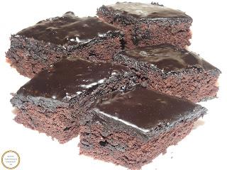 Negresa cu glazura de ciocolata reteta,
