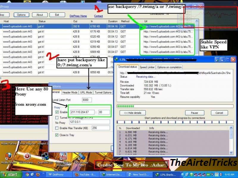 H@ck by mak: airtel free gprs for pc via vnap. Netbuster proxy pro.
