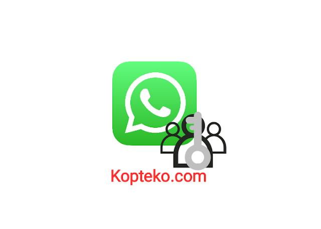 Cara Mengunci Anggota Grup WhatsApp
