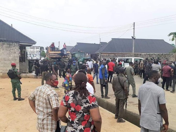 Governor Wike pulled down two hotels for violating lockdown rules