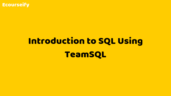 Introduction to SQL Using TeamSQL
