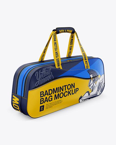 Badminton Bag Mockup - Half-Side View