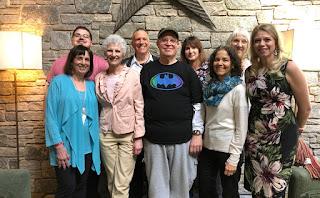 "Facilitators of 2019 CT Workshop:  (left to right) Lorna Goldberg, Nitai Joseph, Ann Stamler, Bill Goldberg, Patrick ""Ck"" Rardin, Elizabeth Blackwell, Leona Furnari, Rosanne Henry, Eva Mackey"