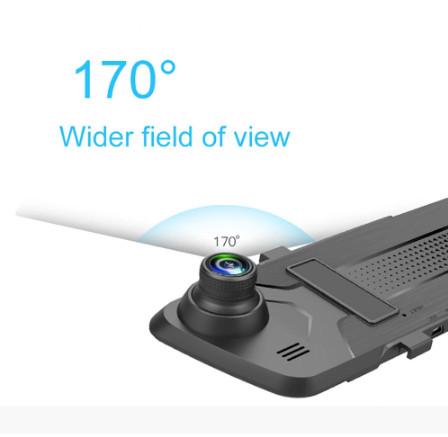 Cycle Recording Dash Cam Video Recorder Mirror Dashcam Black Box