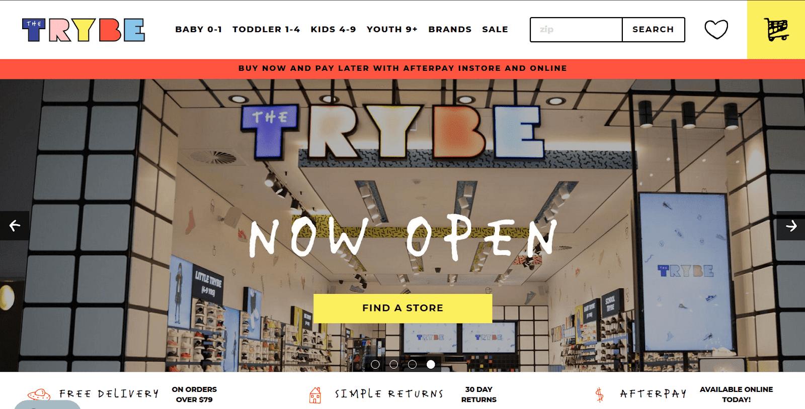 子供靴専門店TheTrybe公式通販サイトトップページ