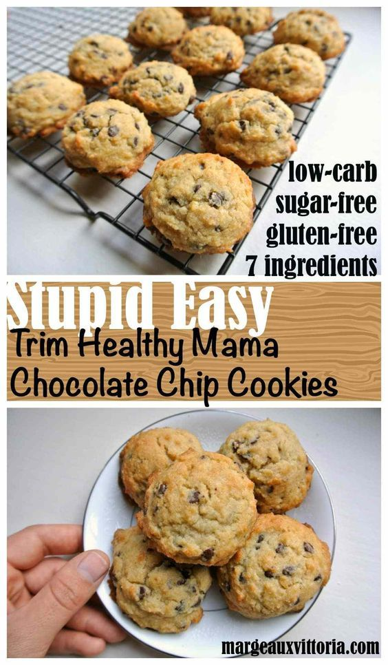STUPID EASY TRIM HEALTHY MAMA CHOCOLATE CHIP COOKIES
