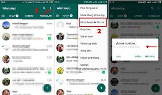 Chat Whatsapp tanpa simpan nomor