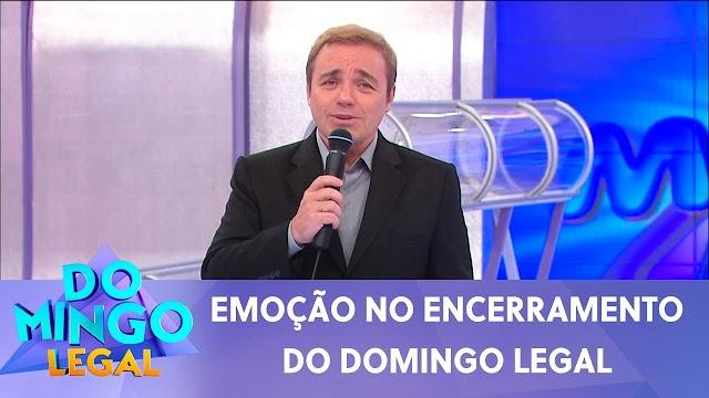 Celso Portiolli presta homenagem emocionante a Gugu no Domingo Legal