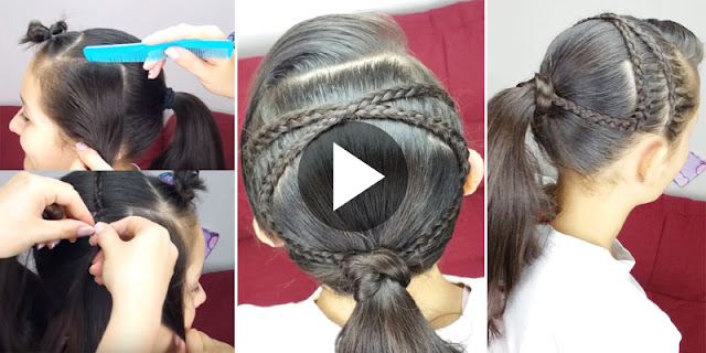 How To Create Criss-Cross Ponytail Hairstyle, See Tutorial