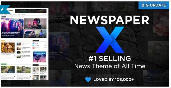 Newspaper Fast-Loading Magazine WordPress Theme