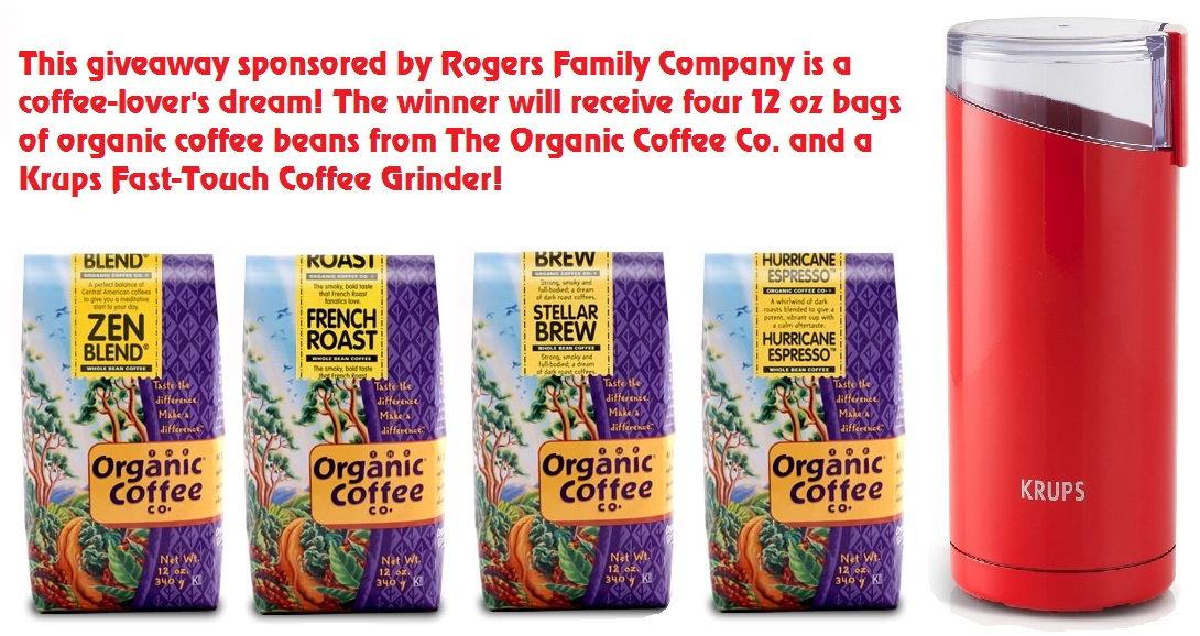 Enter to win four pounds of organic coffee and a grinder {US/CA, 18+, 7/10}