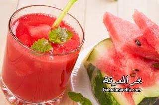 عصير البطيخ والنعناع
