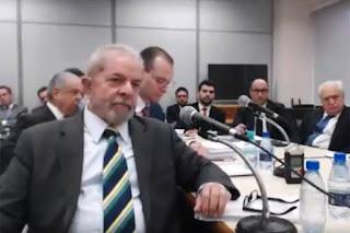 Lula diz ao juiz Sérgio Moro que Antonio Palocci mentiu.