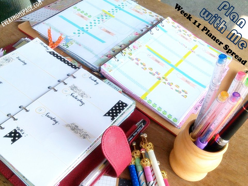 Plan With Me, Week 11 Planner Weekly Spread