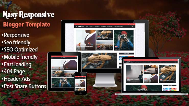 Masy Responsive Blogger Template