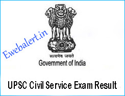 UPSC Civil Service Exam Result