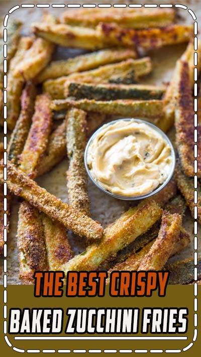 Thinly sliced zucchini dusted in breadcrumbs and baked until crispy and golden is a great alternative to potato fries with less than half the carbs and calories! As many of you have noticed from my