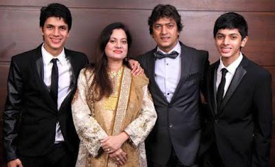 Vijayta Pandit with sons