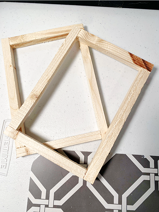 wooden frames from inside the canvas