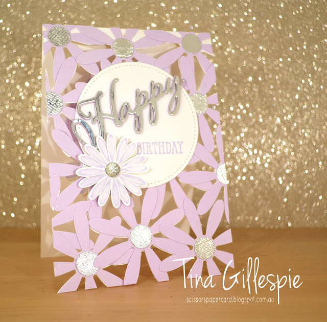 scissorspapercard, Stampin' Up!, Art With Heart, Colour Creations, Daisy Lane Bundle, Well Said, Itty Bitty Birthdays, Daisy Punch, Subtle TIEF, Layered Die Cut See Through Card