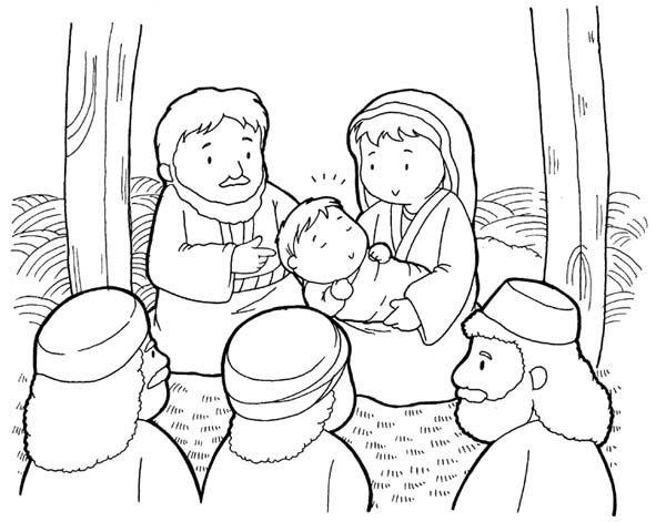 Desenho De Natal Cristão Colorir