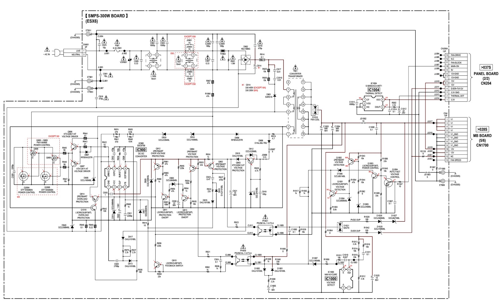 Sony Hcd Esx6 Esx8 Esx9 Compact Disc Receiver Smps And Front 600w Amp Wiring Diagram 300w Schematic Circuit