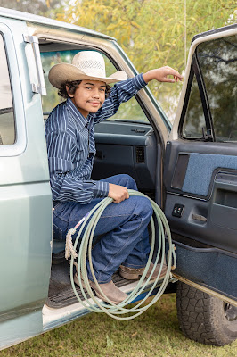 Ford truck and 2021 HS Senior with Roping Gear