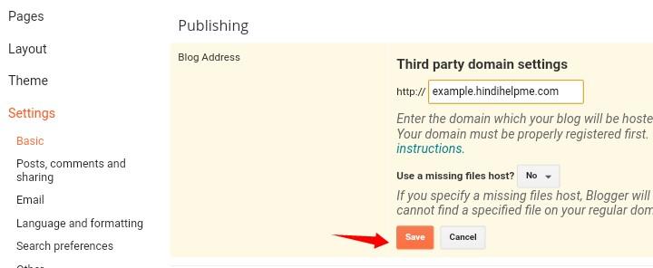 Add Subdomain To Blogger