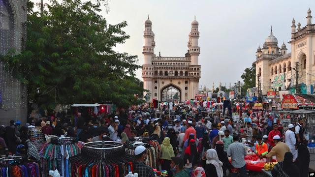 India Padati Pasar untuk Persiapan Idul Fitri