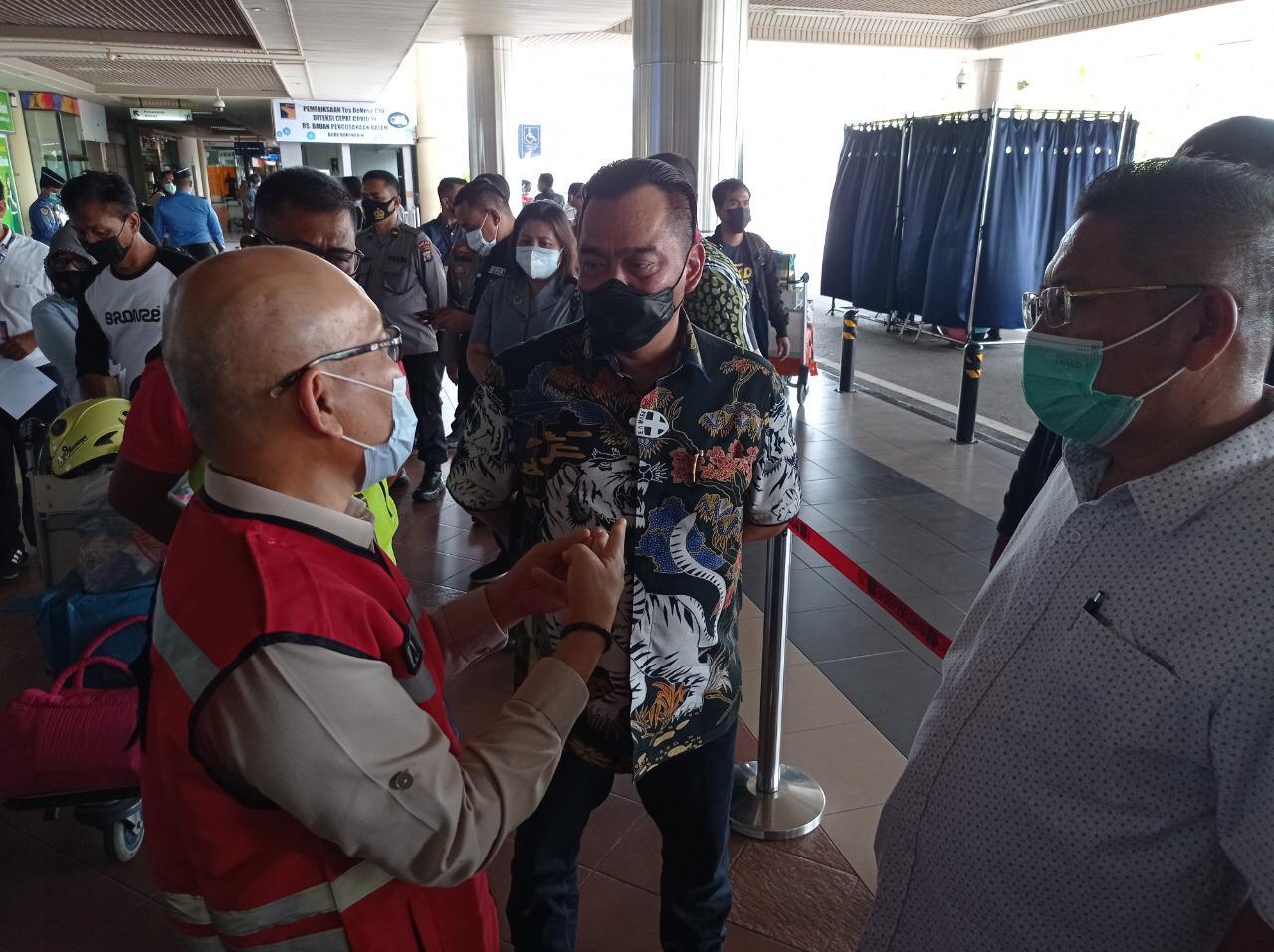 Komisi III DPRD Kepri Sidak ke Bandara Hang Nadim Batam Tinjau Penerapan GeNose C-19