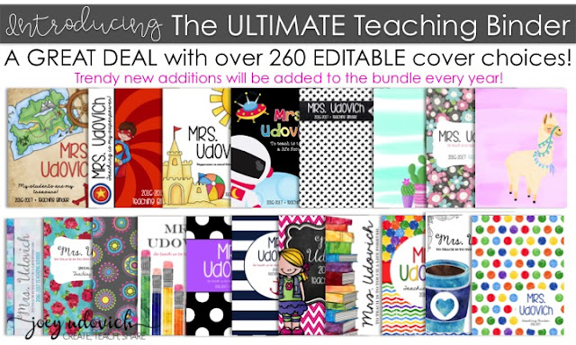 cover choices for the teacher binder system