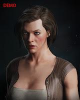 3d model Milla Jovovich head V3
