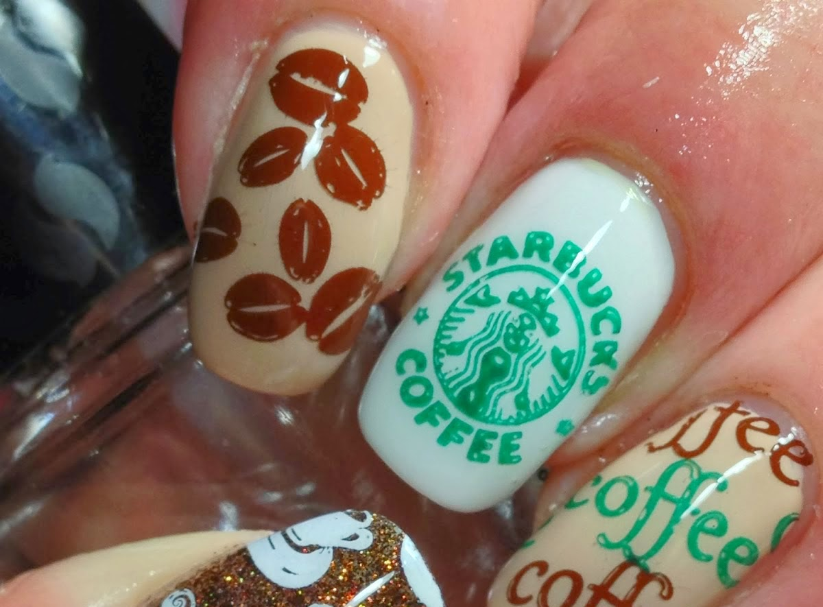 fotos uñas decoradas al estilo starbucks