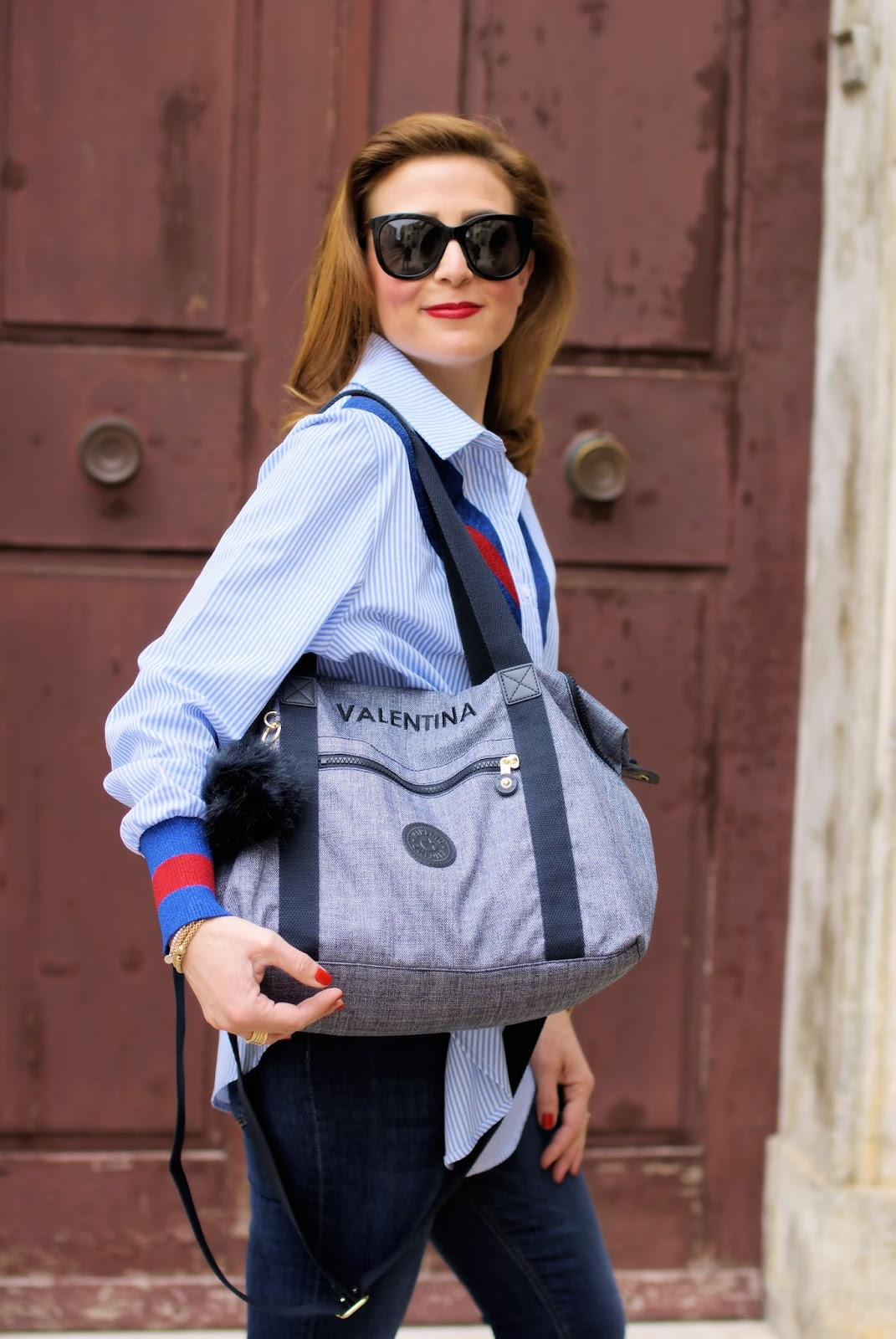 Kipling personalized bag: customized bag on Fashion and Cookies fashion blog, fashion blogger style